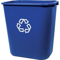 Rubbermaid Commercial Product FG295673BLUE Deskside Recycling Container, 7 Gallon/28 QT, Blue