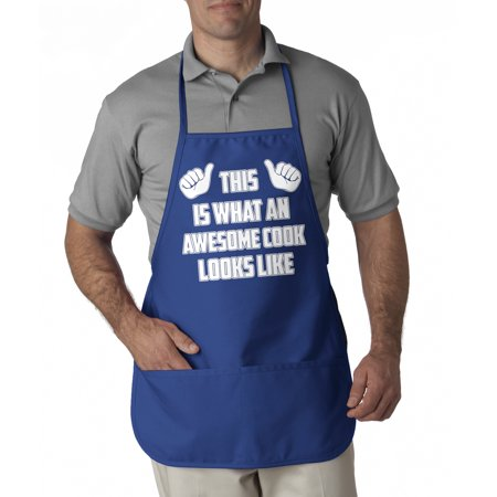 Crazy Dog TShirts - This Is What An Awesome Cook Looks Like Apron Cool Barbeque Aprons