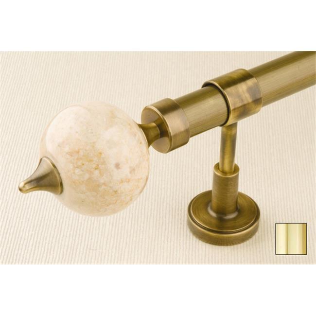 WinarT USA 8. 1128. 20. 04. 160 Flora 1128 Curtain Rod Set -. 75 inch - Polished Brass - 63 inch