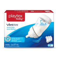 Playtex Baby, VentAire Anti Colic Newborn 9 Piece Gift Set: 3 6oz Bottle, 2 9oz Bottles, 2 Extra Naturalatch Silicone Nipples - 1 Slow Flow, 1 Medium Flow, 2 Binky Brand Pacifiers