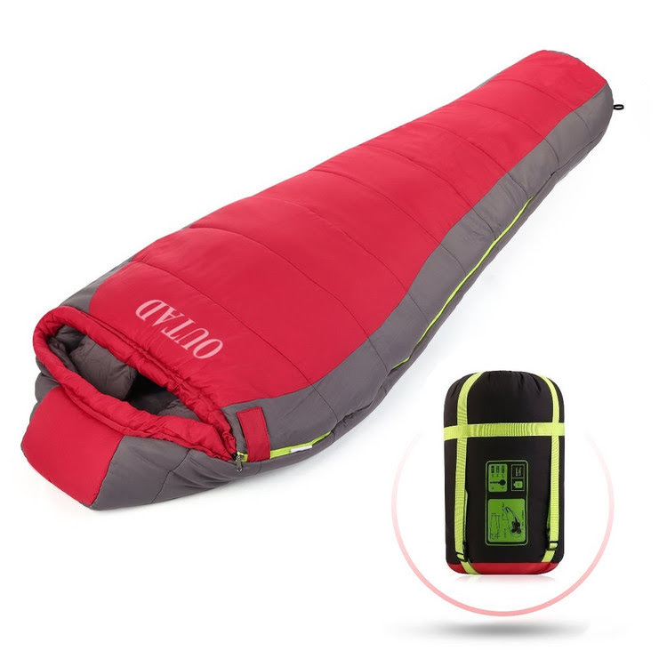Camping Sleeping Bag 5-10� Outdoor Lightweight Portable Waterproof Mummy Sleeping Bag for Adults Traveling Hiking by OUTAD