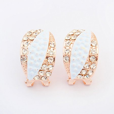 Fashion imitation leaf earrings - image 2 de 3