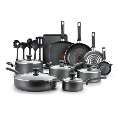 T-fal B087SKDW Easy Care 20-Piece Nonstick Cookware Set with Thermospot