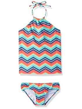 338b33c4d3935 Product Image Billabong Big Girls' Ziggyland Tankini Two Piece Swimsuit,  Multi SIZE 8