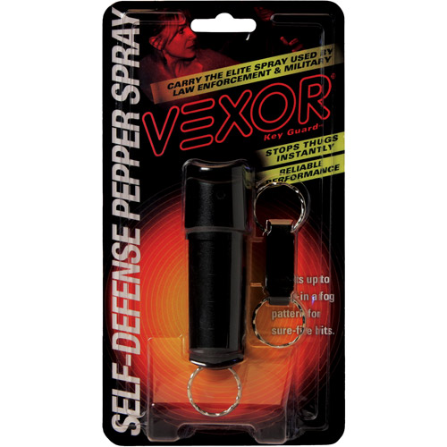 VEXOR Key Guard Pepper Spray, 1/2 oz, Black