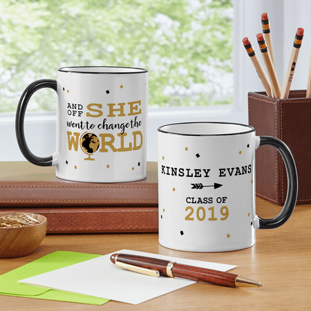 Personalized Change the World Graduation Mug-Available in He or She - Personalized Koozie