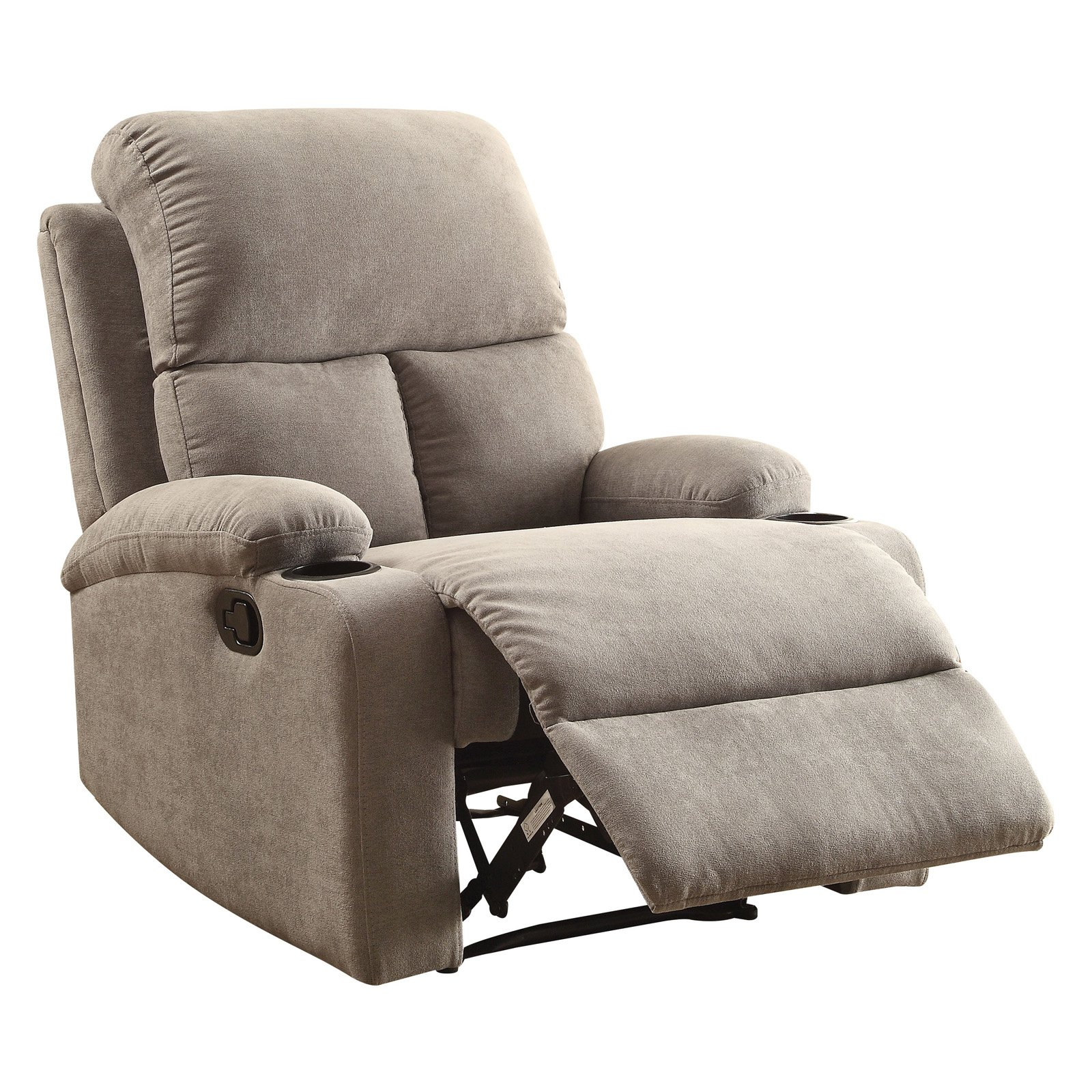 ACME Rosia Linen Recliner with Cup Holder, Multiple Colors