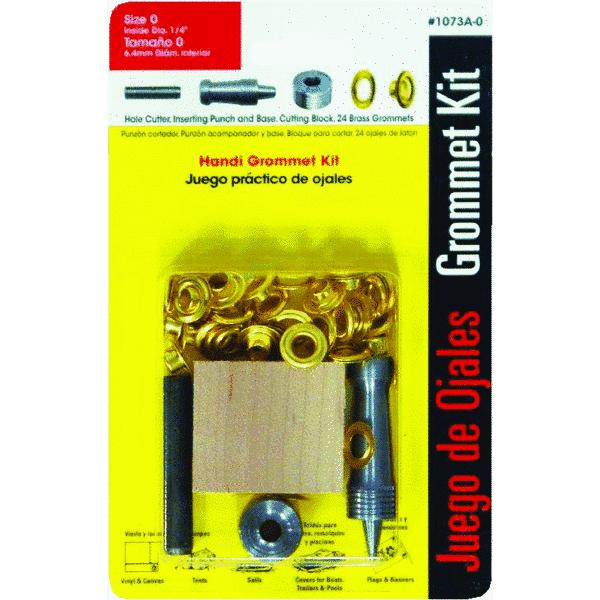 Lord and Hodge Inc. #0 Brass Handi-Grommet Kits, 24pk