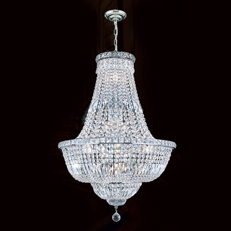 Worldwide Lighting W83032C22 Chrome Empire 22 Light 1 Tier 22u0022 Chrome Chandelier