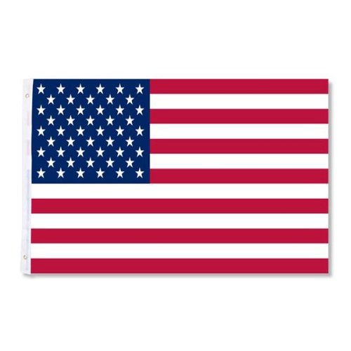 MegaBrand 3 Ft x 5 Ft U.S. American Flag with Grommet For Flagpole by MegaBrand