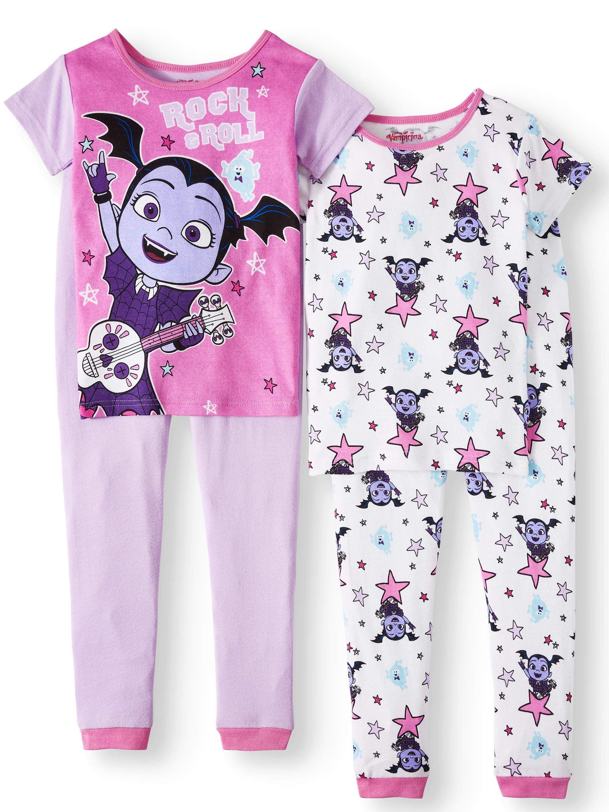 Vampirina Girls' 4-Piece Pajama Sleep Set
