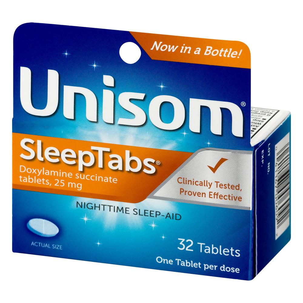 unisom sleeptabs doxylamine succinate tablets, 32ct. - walmart