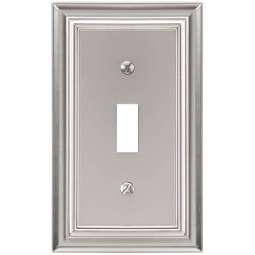 elumina continental cast satin nickel wallplate toggle
