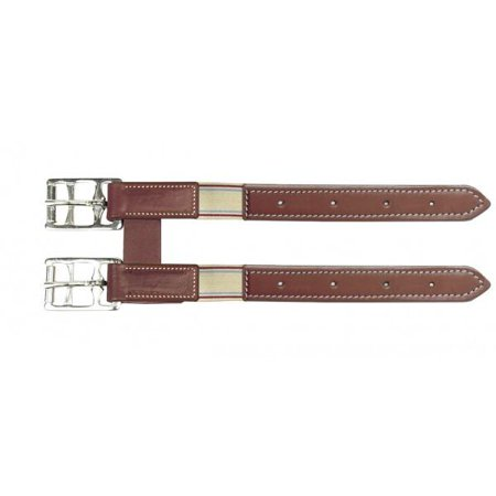 Camelot Leather Girth Extender with Elastic (Elastic Girth)