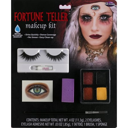 Halloween Fortune Teller Makeup.Halloween Fortune Teller Makeup Kit By Fun World Walmart Com