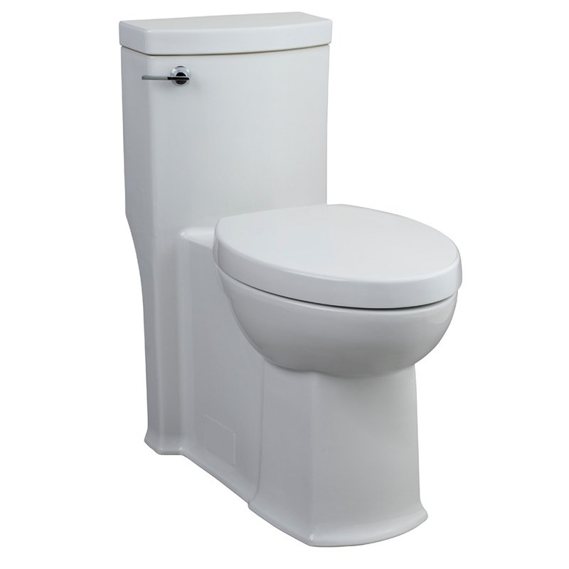 american standard boulevard elongated right height 128 gpf toilet with seat and 12