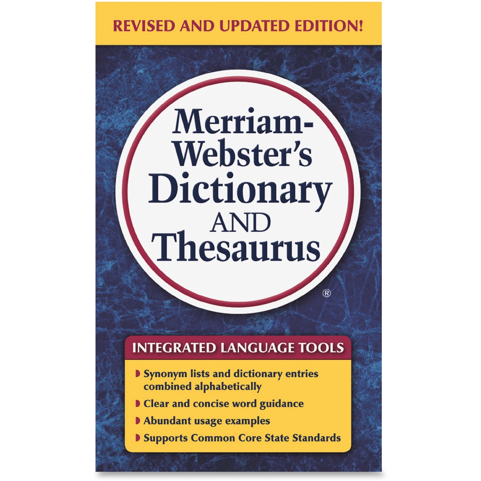 Merriam-Webster, MER8637, Dictionary/Thesaurus, 1 Each