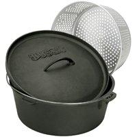 Bayou Classics Cast Iron Dutch Oven with Aluminum Basket