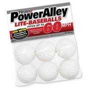 Heater Sports Baseballs Lite - Power Alley 60 MPH - Pack Of 6