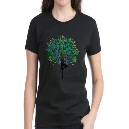 CafePress - YOGA TREE POSE Women's Dark T Shirt - Women's Dark (Best Yoga Poses For Women)