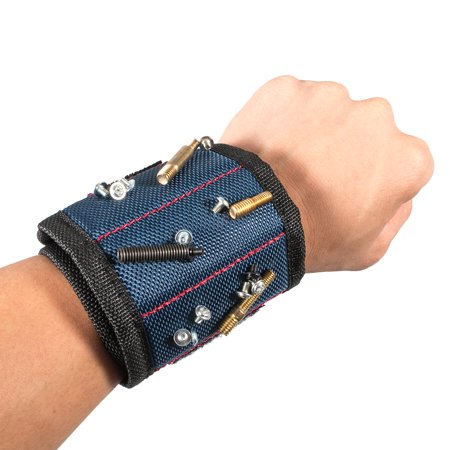 Magnetic Wristband, EEEKit Magnetic Wristband Belt Wrist Organizer Pouch Tool Holder Storage for Holding Screws, Nails, Bolts and Small Tools