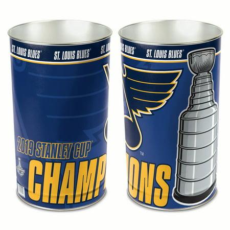 Wincraft Wastebasket - St. Louis Blues 2019 Stanley Cup Champions WinCraft Wastebasket Trash Can