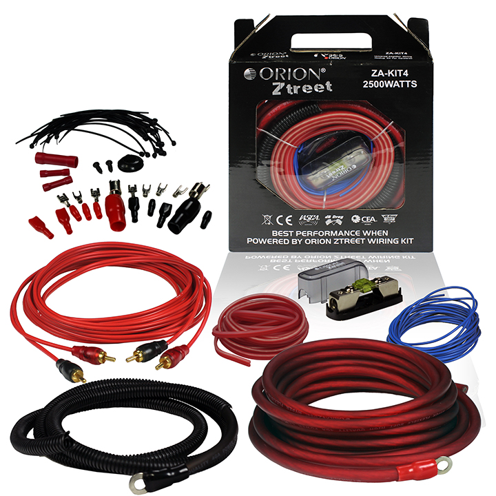 Orion Ztreet 4 Gauge Complete Amp Kit 2500 Watts