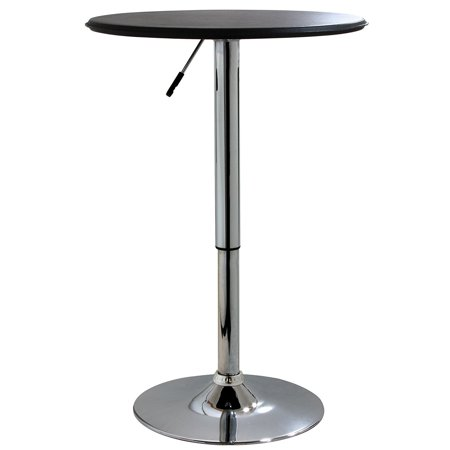 Bar Tables, 25 Inch Adjustable Vinyl Covering Kitchen Round Height Bar (Round And Bown)