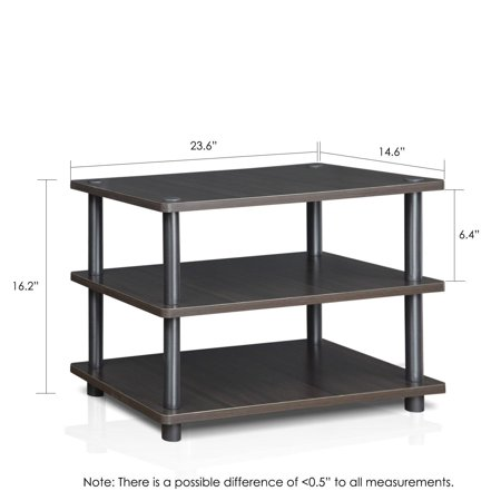 Furinno Meuble Tv D 39 Angle 4 Niveaux Easy Assembly Turn