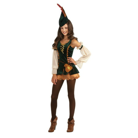 Tween Girl Forest Bandit Robin Rood Costume Rubies 886308 - Robin Costume For Teen Girls