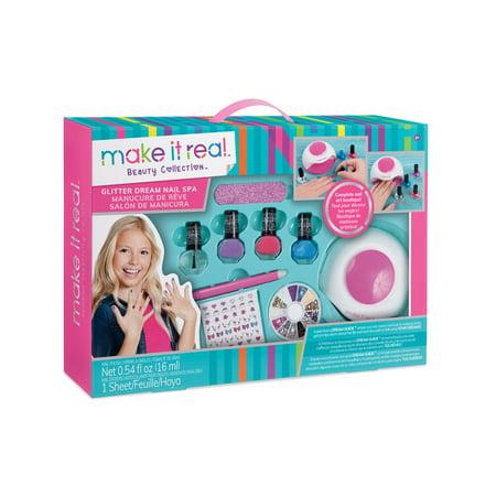 Experimentation Kit - Glitter Dream Nail Spa Salon Kit, Kids Nail Polish and Manicure Set