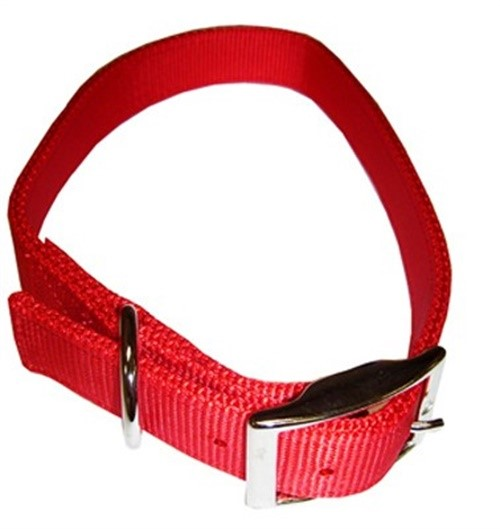 Coastal Pet Products 02901 B RED24 Dog Collar, 2-Ply, Red Nylon, 1 x 24-In.