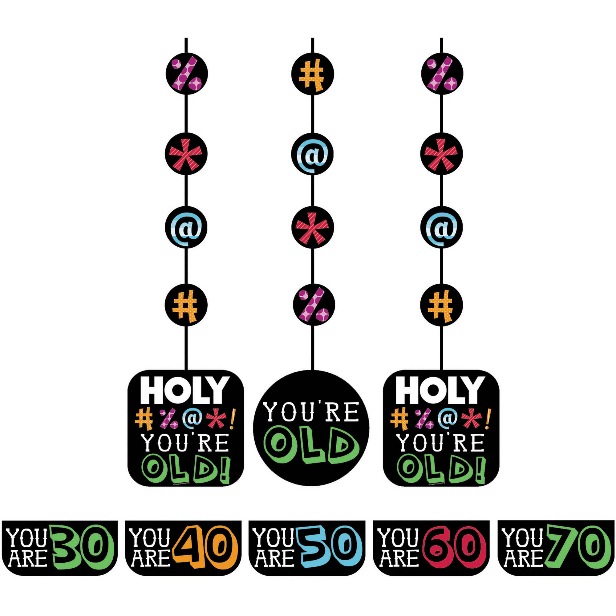 Holy Bleep Hanging Cutouts, 3-Pack