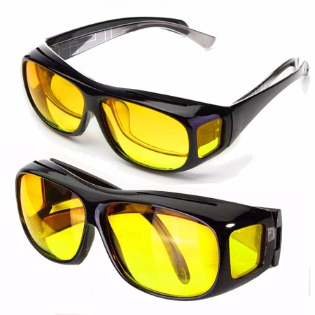 c2aedeaebd Unisex HD Lenses Sunglasses UV Protection Night Vision Driving Sports  Goggles Driving Glasses Yellow - Walmart.com