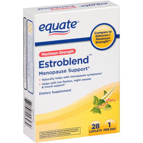 Equate Maximum Strength Estroblend Menopause Support Caplets, 28 ct