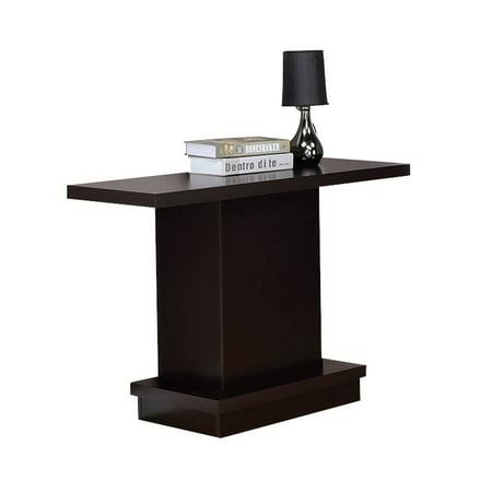 Coaster Pedestal Console Table in Cappuccino - image 2 de 2