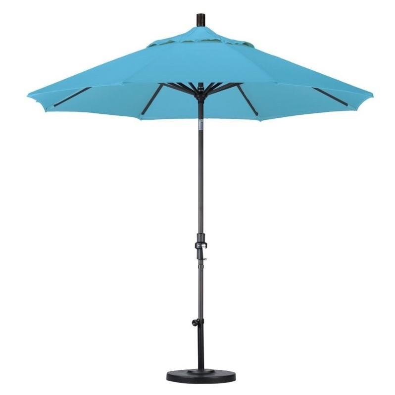 California Umbrella 9' Market Patio Umbrella with Collar Tilt in Capri