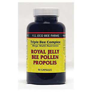 Ys Organics Triple Bee Complex Royal Jelly Bee Pollen Propolis -- 90 Capsules