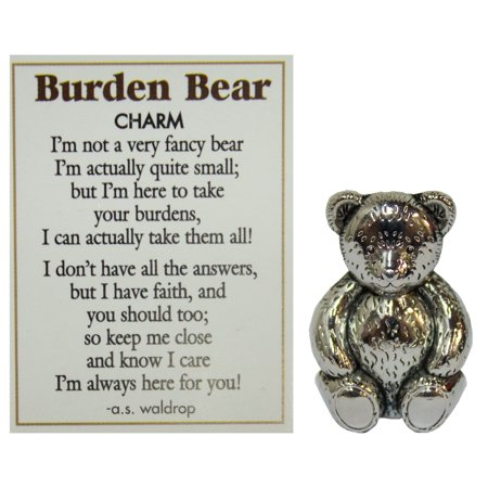 Burden Bear Zinc Pocket Charm w/ Story Card by Ganz