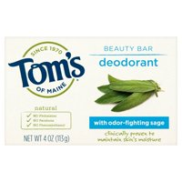 Tom's of Maine Natural Deodorant Beauty Bar, 4 oz