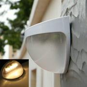 Solar Power Wireless LED Lamp Wall Mount Light Sensor for Garden Gutter Fence Wall Roof Yard Door Entrance Pathways Patios Outdoor Use Warm White