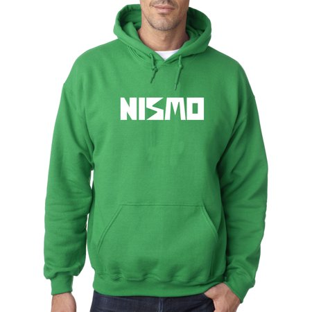 - New Way 916 - Adult Hoodie Nismo Old School Logo Nissan Motorsports Sweatshirt 4XL Kelly Green