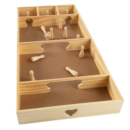 Competition Game - Tabletop Skittles Game -Desktop Pinewood Competition Board Game by Hey! Play!