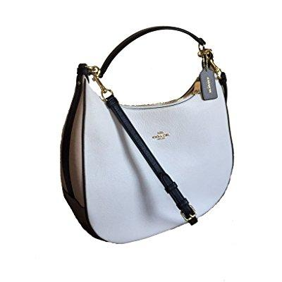 Coach pebbled leather geometric colorblock harley purse -...