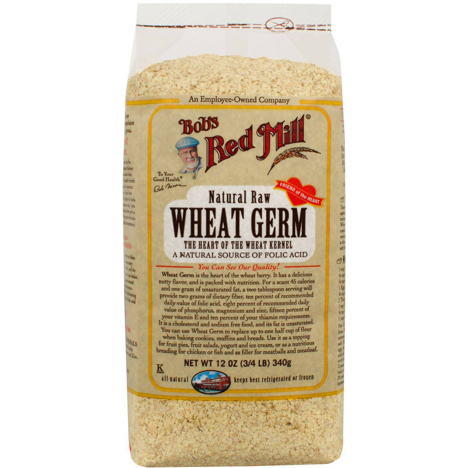 Bob's Red Mill Natural Raw Wheat Germ, 12 oz