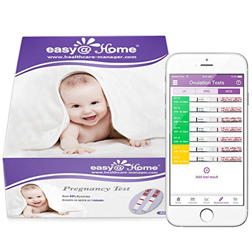 Easy@Home 40 Pregnancy (HCG) Urine Test Strips, 40 HCG Tests