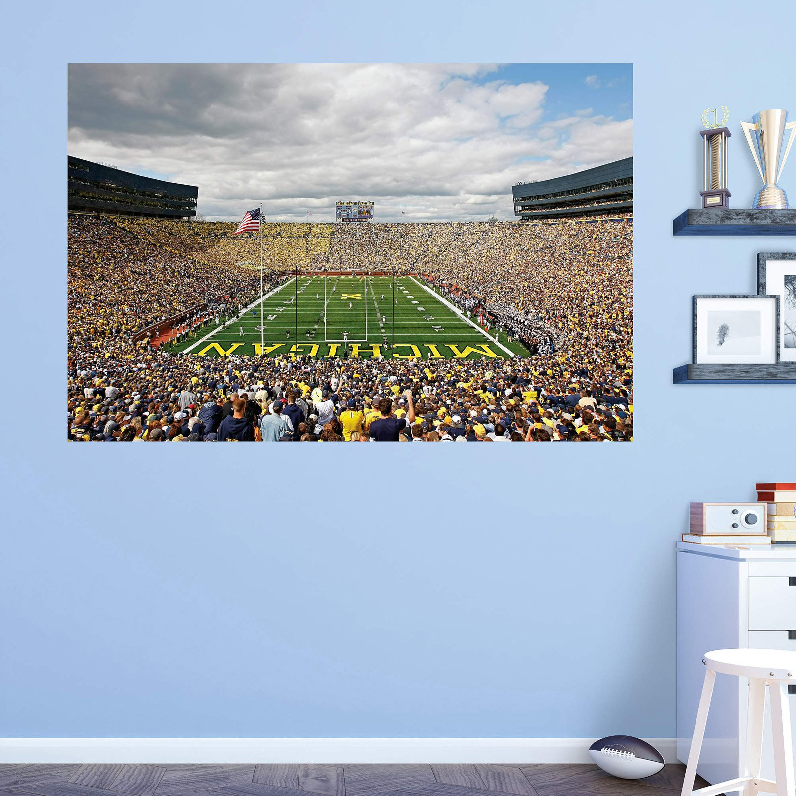 Fathead NCAA Michigan Wolverines Michigan Stadium The Big House Wall Mural