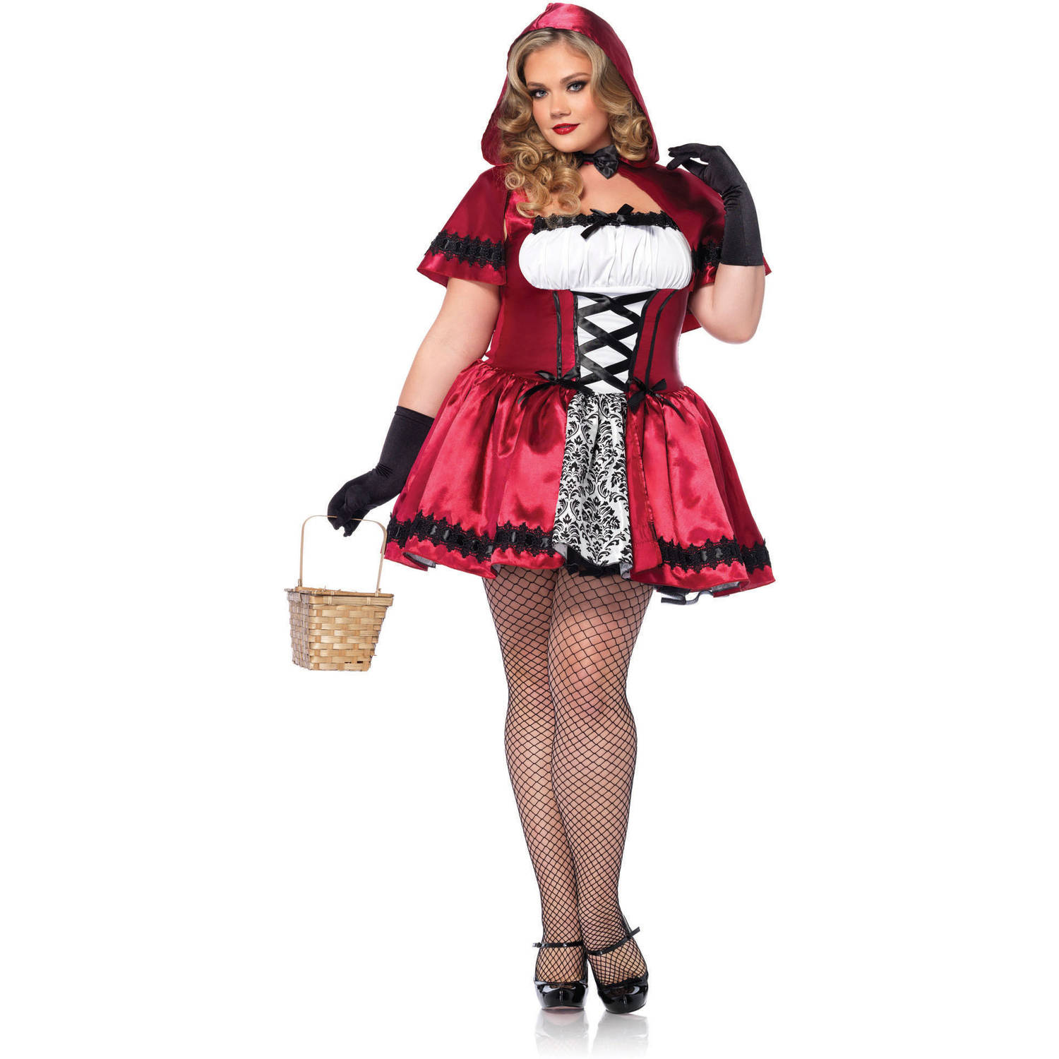 Leg Avenue Plus Size Gothic Red Riding Hood Adult Halloween Costume