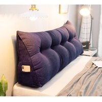 """39""""/47""""/59"""" Multi-color Large Soft Triangular Wedge Pillow Bedside Pillow  Lumbar Pad Pillow Bed Sofa Reading Pillow for Bedroom Living Room"""