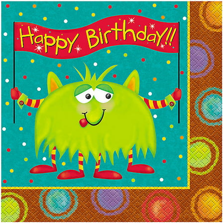 Party Monsters Luncheon Napkins, 16pk (Luncheon Snack)
